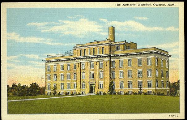 Memorial Hospital Owosso 1930 S